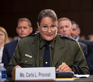 In this July 31, 2018 photo, Carla Provost makes an opening statement as the Senate Judiciary Committee holds a hearing on the Trump administration's policies on immigration enforcement. (AP Photo/J. Scott Applewhite)