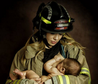 Firefighter wife's breastfeeding photo: 3 big questions