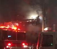 Dramatic video captures section of roof falling on FDNY firefighters