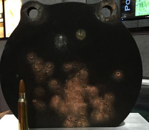 """PolyFrang results when fired from 3"""" away. (PoliceOne Image)"""