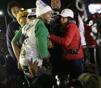 Brown's stepfather apologizes for comments during Ferguson protest
