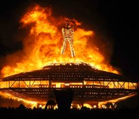 Authorities investigate death of man who ran into fire at Burning Man Festival