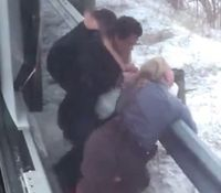 Video: Greyhound bus passenger attacks Ohio trooper
