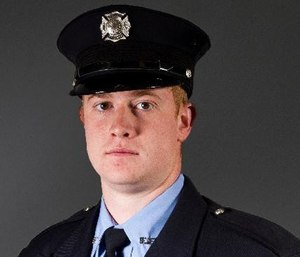 Firefighter Adam Cain was badly injured in an explosion while fighting a fire at a plant. (Photo/Clinton Fire Dept.)