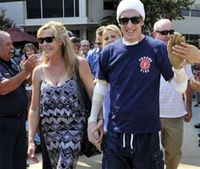 Burned fire capt. leaves hospital to start rehab at home