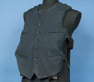 A bullet-resistant vest once worn by Al Capone is part of the National Law Enforcement Museum's collection, and will be on display when the museum opens this fall. (Photo/National Law Enforcement Museum)