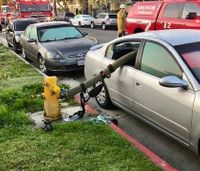 Fire department warns drivers of parking in front of hydrant