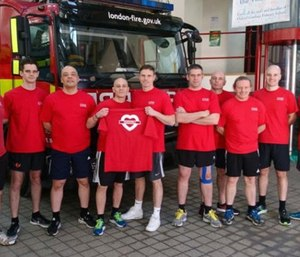 Nine firefighters are now raising money for the children affected by the fire by running the London marathon and giving the funds to Kids on the Green. (Photo/Just Giving)