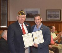 Navy Reserve veteran Charles Brown of Ill. receives Congressional commendation