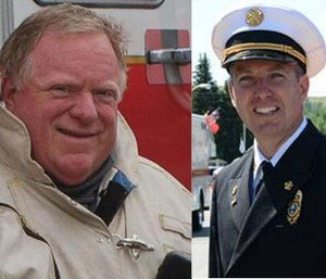 Chiefs Bruce Varner (left) and Thomas Kuntz (right) give advice on what it takes to become Fire Chief of the Year. (Courtesy photos)