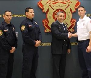 Three firefighters from Chihuahua, a Mexican city about 550 miles south of Albuquerque, are joining an Albuquerque Fire Department academy class. (Photo/Albuqurque Journal)