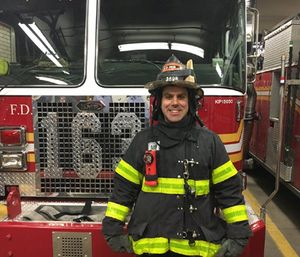 FDNY firefighter Stephen Cresci saved Juan Camacho when he began choking on a piece of lamb. (Photo/FDNY)