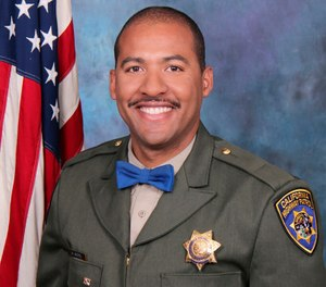 In this undated photo release by the California Highway Patrol, Officer Andre Moye Jr. (David Earhart/Earhart Photography/California Highway Patrol via AP)