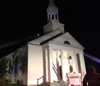 Firefighter battles blaze in church hours before his wedding