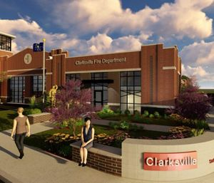 Ground was broken on the roughly 10,000 square-foot Clarksville fire station in April, which will replace the station that's stood since 1977. (Photo/City of Clarksville)