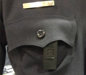 """The body camera is activated by what the company calls a """"mistake-free"""" slide panel that uncovers the camera's lens and turns it on. (PoliceOne Photo)"""