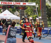 Firefighters from around the world compete in 'toughest 2 minutes in sports'