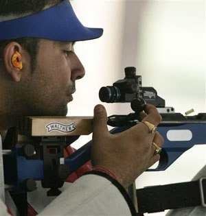 Pictured is competitive shooter Gagan Narang. (AP Image)