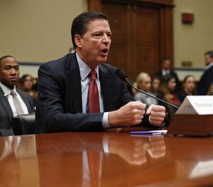 In this Sept. 28, 2016, file photo, FBI Director James Comey testifies on Capitol Hill in Washington. (AP Photo/Pablo Martinez Monsivais, File)