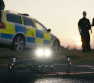 """While most drones are limited to providing officers an extra pair of eyes in the sky, the Mavic 2 Enterprise features an entirely new extended port that gives officers a new suite of """"superpowers."""" (image/DJI)"""