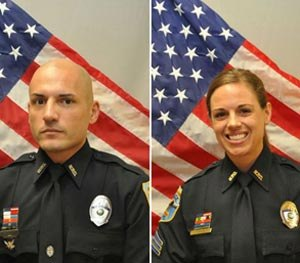 Officer Luis Monroig and Sgt. Amy Young. (Naples Police Department Image)