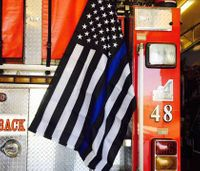 Calif. firefighters asked to remove flag supporting fallen police officers