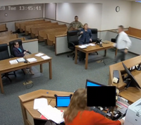 Video: Wash. judge pursues inmates during escape attempt