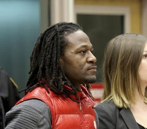 """Bengals cornerback Adam """"Pacman"""" Jones is arraigned Tuesday Jan. 3, 2017 in Hamilton County Municipal Court, in Cincinatti, after be charged with a felony charge of harassment with a bodily substance. (Photo/The Cincinnati Enquirer via AP)"""