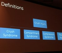 Crush syndrome assessment, treatment for EMS providers