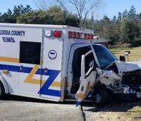 Fla. ambulance struck by concrete truck while en route to call