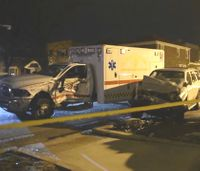 2 Chicago paramedics, officer hurt in ambulance crash