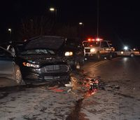 EMT, 2 firefighters hurt when car drives into crash scene