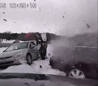 Video: Careening car plows into Mich. cop assisting driver