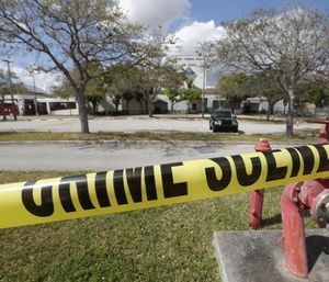 Officials said EMS teams who responded to the Florida high school shooting were told they could not enter the school when they requested access. (Photo/AP)