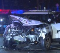 RI man facing charges following collision with police cruiser