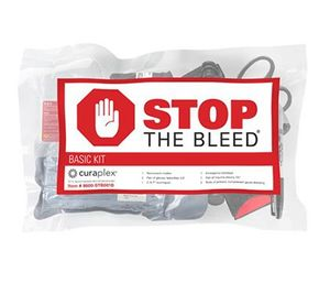 The Stop the Bleed initiative was designed to provide bystanders with the tools and knowledge to provide immediate and effective hemorrhage control. Bleeding control kits should be placed next to AEDs in order for both to be associated with the ability to save lives. (image/Bound Tree)