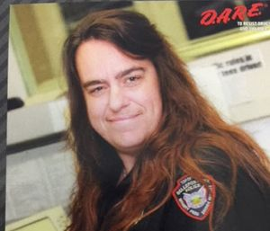 Volunteer EMT Krista McDonald, who was also a dispatcher, was driving an ambulance when a vehicle ran through a stop sign and hit the ambulance. (Photo/Bellefontaine Police Dept.)