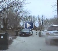 Video: Iowa cops hurt after suspect rams squad