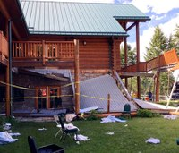 Deck collapses during memorial event for firefighter; 50 hurt