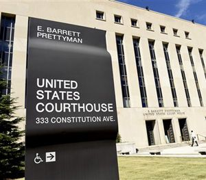 In this Sept. 22, 2014, file photo, a view of the E. Barrett Prettyman U.S. Courthouse in Washington. (AP Image)