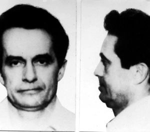 This photo May 4, 1981, file booking photo combo provided by the FBI shows Donald Eugene Webb, wanted in connection with the Dec. 4, 1980 murder of police Chief Gregory Adams in Saxonburg, Pa. (AP Photo/Federal Bureau of Investigation)