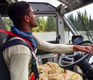 Basic fundamental driving should be discussed early on in any firefighter's career. (Photo/U.S. Department of Defense)