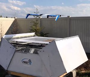Phirst Technologies will conduct testing of its automated drone first response system, which could be dispatched by 911 operators. (Photo/Phirst Technologies)