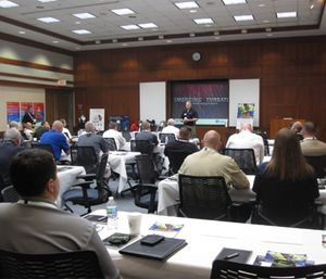 "Attendees at the campaign's ""Emerging Threats for First Responders"" launch. (Courtesy photo)"
