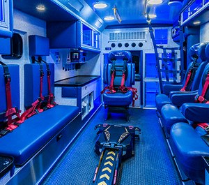 A customized CCT ambulance for Duke Life Flight by Braun Ambulances. (Photo/Braun Ambulances)