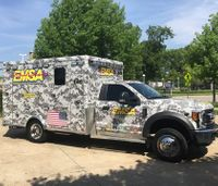 Okla. EMS agency debuts camo ambulance in honor of troops