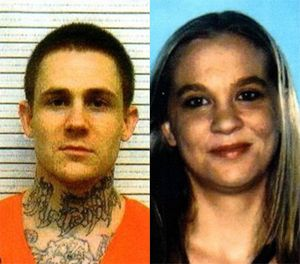 29-year-old Richard Fountaine, left, and 25-year-old Kimberly Belcher, right, were captured in Georgia after escaping a Wyoming correctional facility (Monroe County (Georgia) Sheriff's Office)