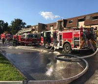 7 Md. firefighters hurt in suspected gas explosion