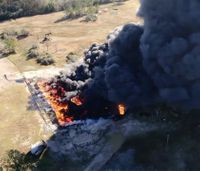 Video: Drone footage captures massive Texas oil tank explosion