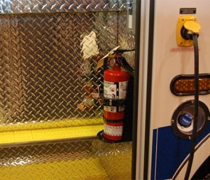 It's vitally important that fire departments have a maintenance program covering all its portable fire extinguishers. (Photo/Greg Friese)
